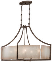 Minka-Lavery 4398-573 - 6 Light Oval Pendant