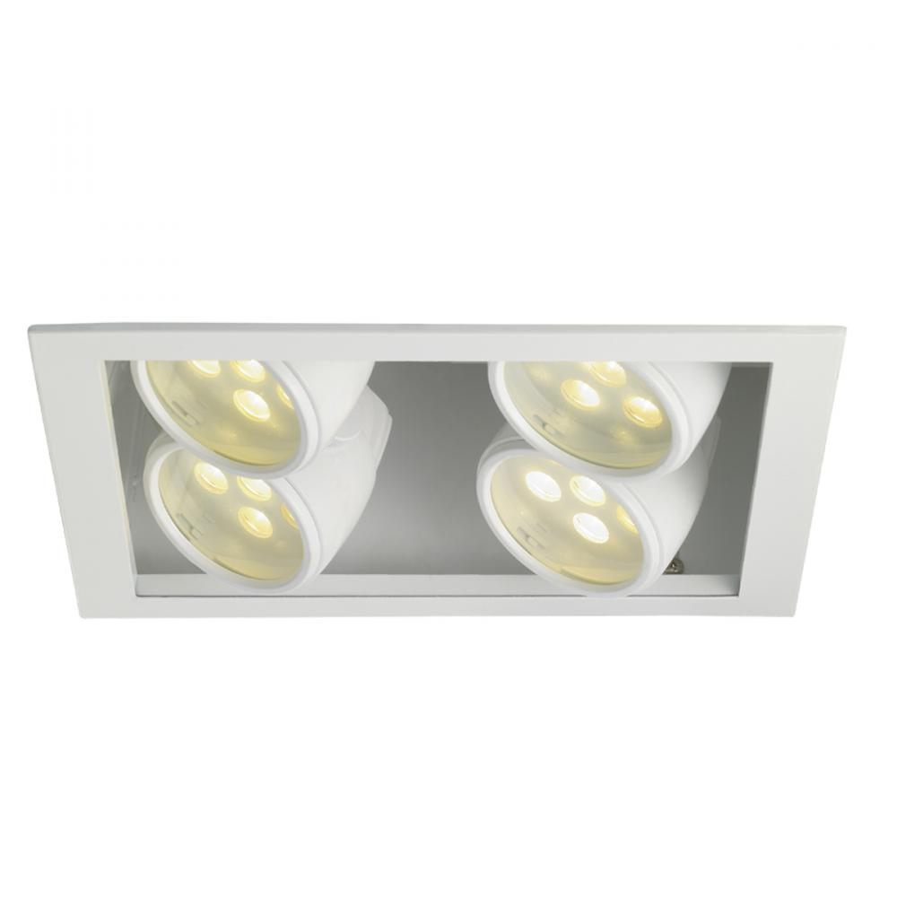 Two Light White Directional Recessed Light : P0QA   Valley Lights