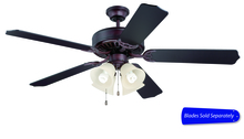 "Craftmade E204OB - Pro Builder 204 52"" Ceiling Fan with Light in Oiled Bronze (Blades Sold Separately)"