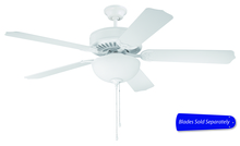 "Craftmade E207W - Pro Builder 207 52"" Ceiling Fan with Light in White (Blades Sold Separately)"