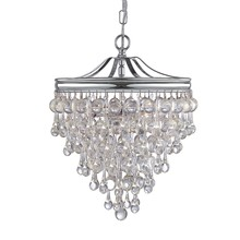 Crystorama 130-CH - Crystorama Calypso 3 Light Chrome Mini Chandelier