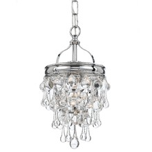 Crystorama 131-CH - Crystorama Calypso 1 Light Chrome Mini Chandelier