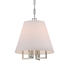 Crystorama 2254-PN - Libby Langdon for Crystorama Westwood 4 Lt Nickel Mini Chandelier