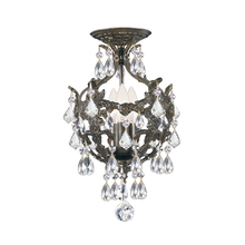 Crystorama 5193-EB-CL-S_CEILING - Crystorama Legacy 3 Light Clear Swarovski Strass Crystal Bronze Mini Chandelier