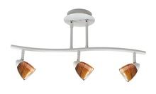 "CAL Lighting SL-954-3-WH/AMS - 7.25-19.25"" Inch Adjustable Metal Serpentine Three Light Ceiling Fixture"