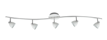"CAL Lighting SL-954-5-WH/WH - 7.25-19.25"" Inch Adjustable Metal Serpentine Five Light Ceiling Fixture"