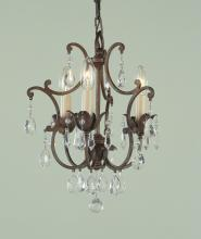 Feiss F1880/3BRB - 3- Light Mini Chandelier