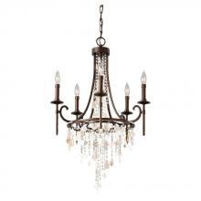 Feiss F2663/5HTBZ - 5- Light Single Tier Chandelier