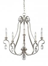 Feiss F3070/5SRS - 5 - Light Chandelier
