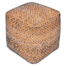 Uttermost 23953 - Uttermost Valda Orange Wool Pouf
