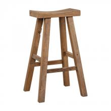 Uttermost 24712 - Uttermost Holt Elm Wood Bar Stool