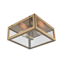 ELK Lighting 63082-2 - Parameters 2 Light Flush In Satin Brass With Cle